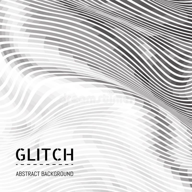 Fond abstrait de mochrome Illusion optique du mouvement des formes géométriques illustration stock