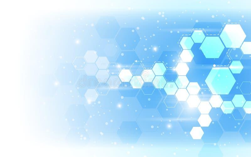 Fond abstrait de modèle d'hexagone de vecteur illustration libre de droits