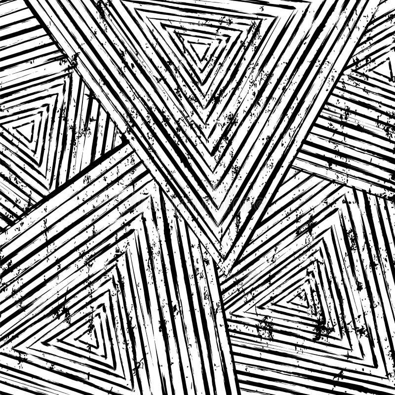 Fond abstrait de modèle de b/w illustration de vecteur