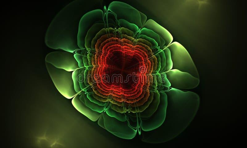 Fond abstrait de modèle de fleur de fractale image stock