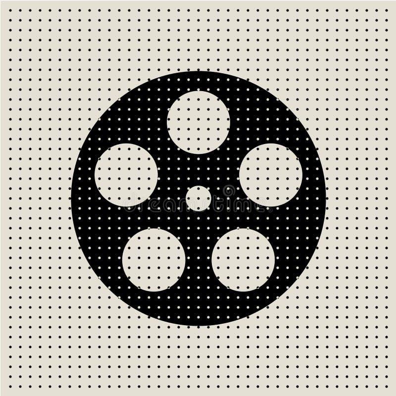 Fond abstrait de modèle de point de film et de film illustration de vecteur