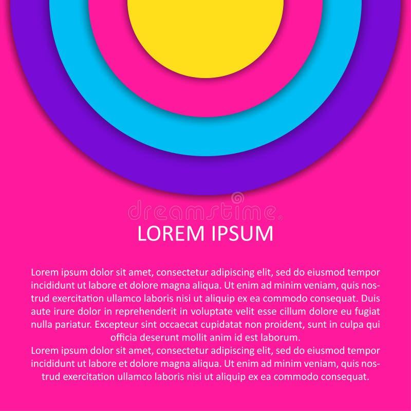 Fond abstrait de mod?le Illustration futuriste moderne de vecteur pour la carte de conception, invitation de partie d'été, papier illustration libre de droits