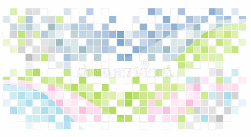 Fond abstrait de mosaïque illustration de vecteur