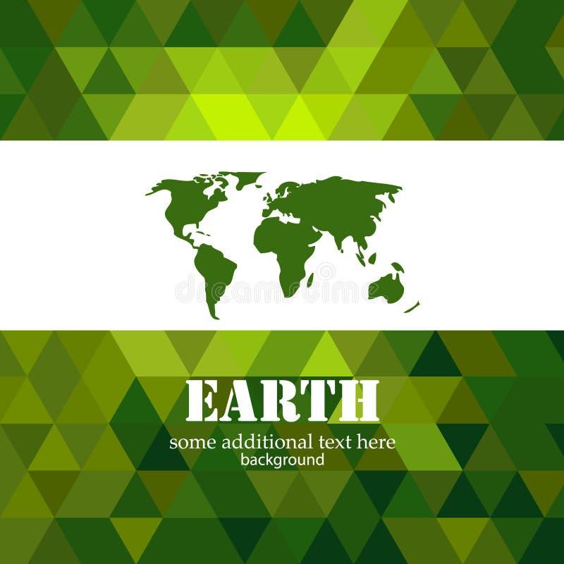 Fond abstrait de mosaïque de la terre verte illustration libre de droits