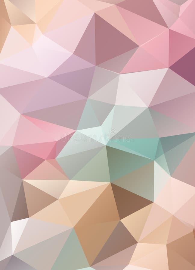 Fond abstrait de mosaïque de vecteur de wallpap polygonal de triangles illustration de vecteur