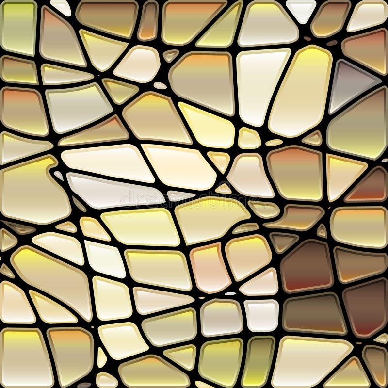 Fond abstrait de mosaïque de verre coloré illustration de vecteur