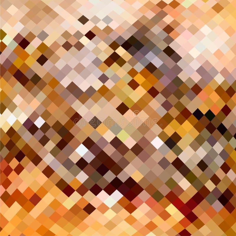 Fond abstrait de mosaïque fait de places avec des tons bruns illustration de vecteur