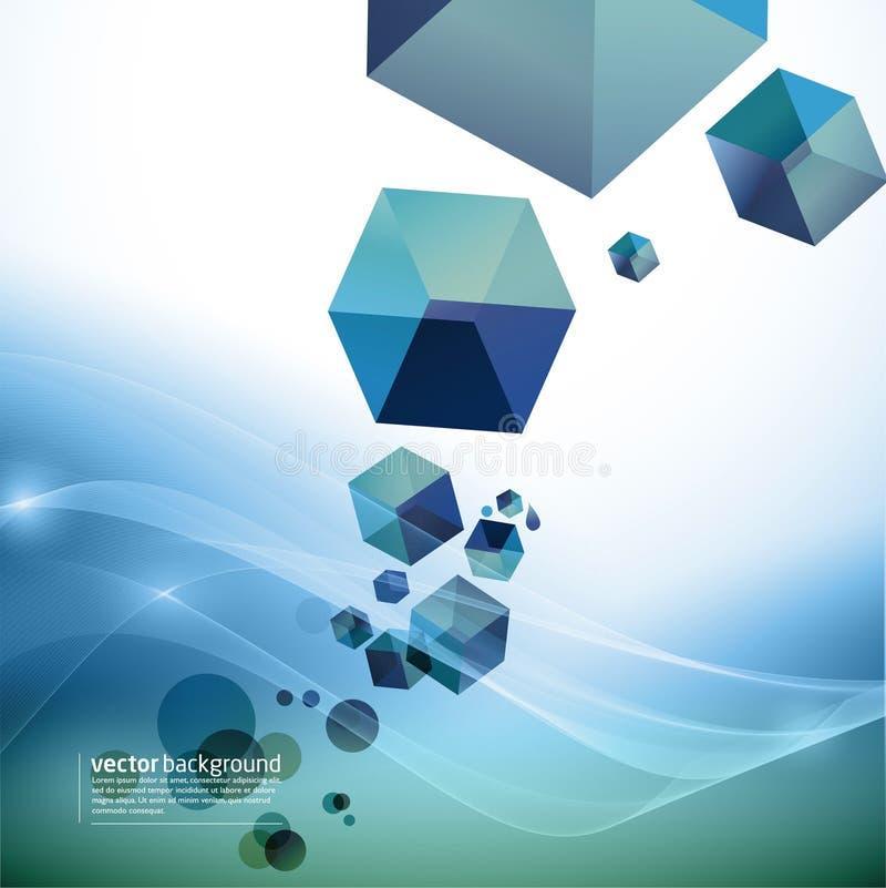 Fond abstrait de mouvement - cubes illustration libre de droits
