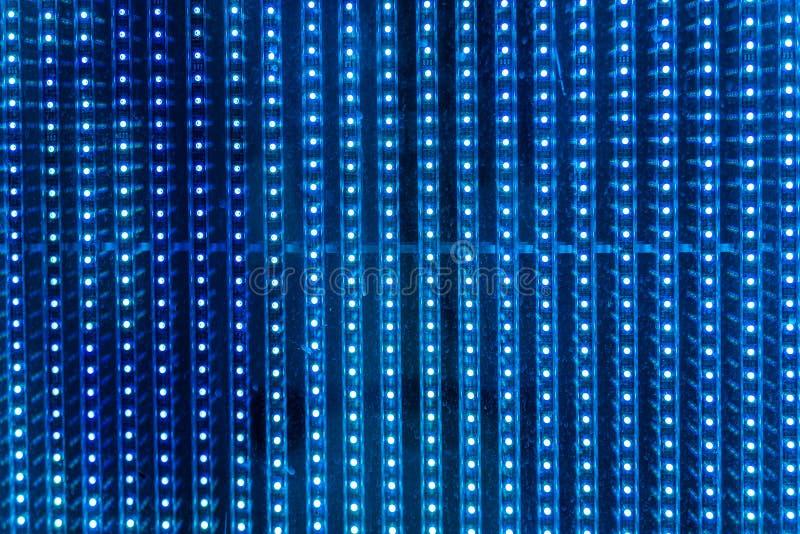 Fond abstrait de mur de lumière de LED images libres de droits