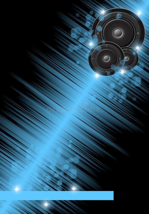 Musique et fond de disco illustration stock