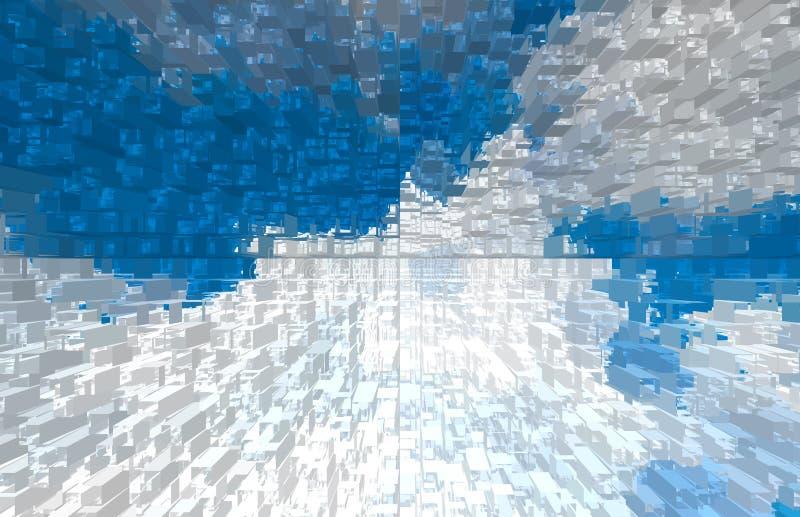 Fond abstrait de nature Nuages blancs au-dessus de ciel bleu photographie stock libre de droits