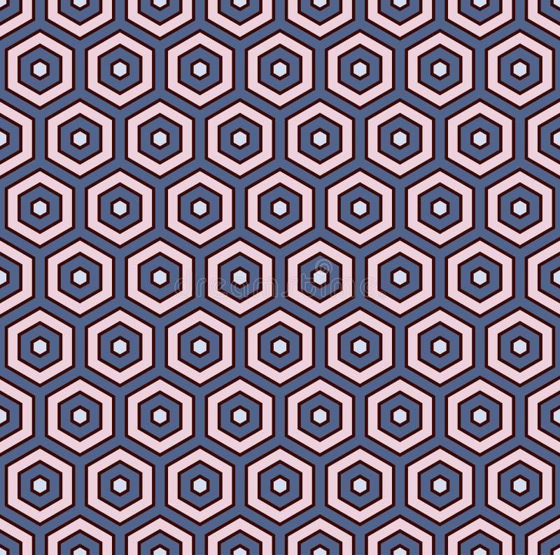 Fond abstrait de nid d'abeilles L'hexagone couvre de tuiles le papier peint de mosaïque Modèle sans couture avec l'ornement géomé illustration de vecteur
