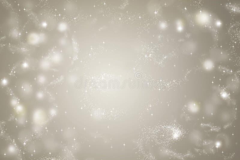 Fond abstrait de Noël avec la lumière, étoile, bokeh images libres de droits