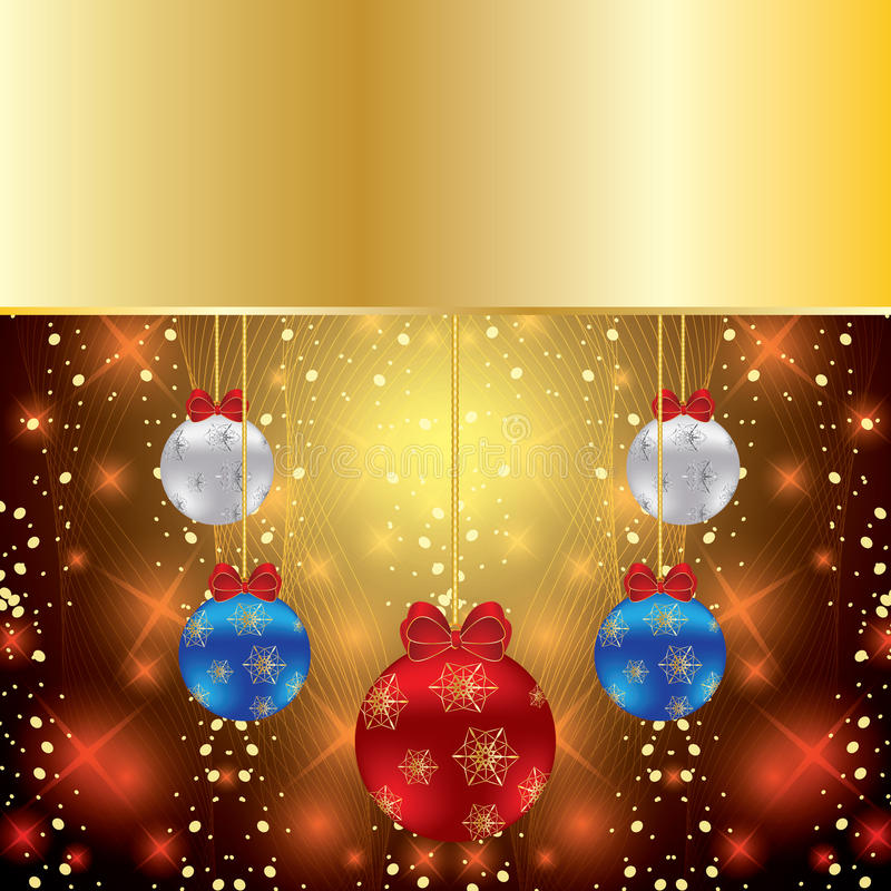 Fond abstrait de Noël de l'hiver illustration libre de droits