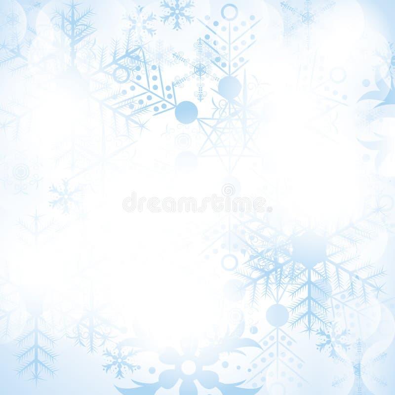 Fond abstrait de Noël de l'hiver illustration de vecteur