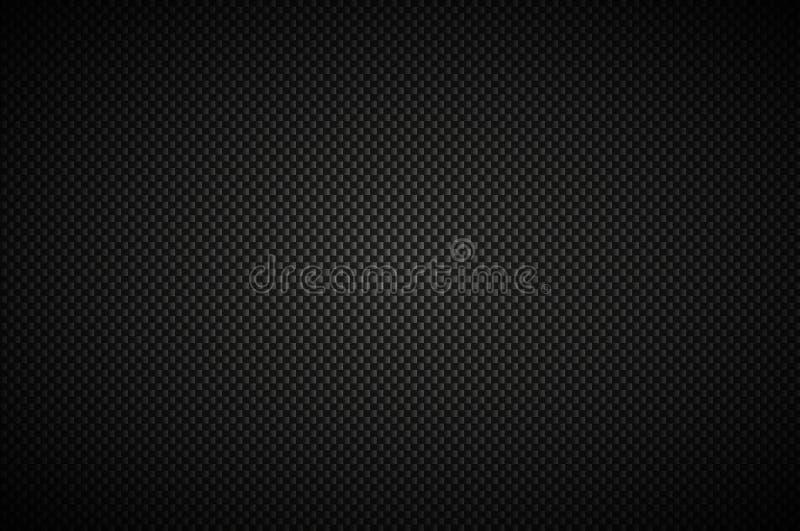 Fond abstrait de noir de carbone, regard métallique moderne illustration stock