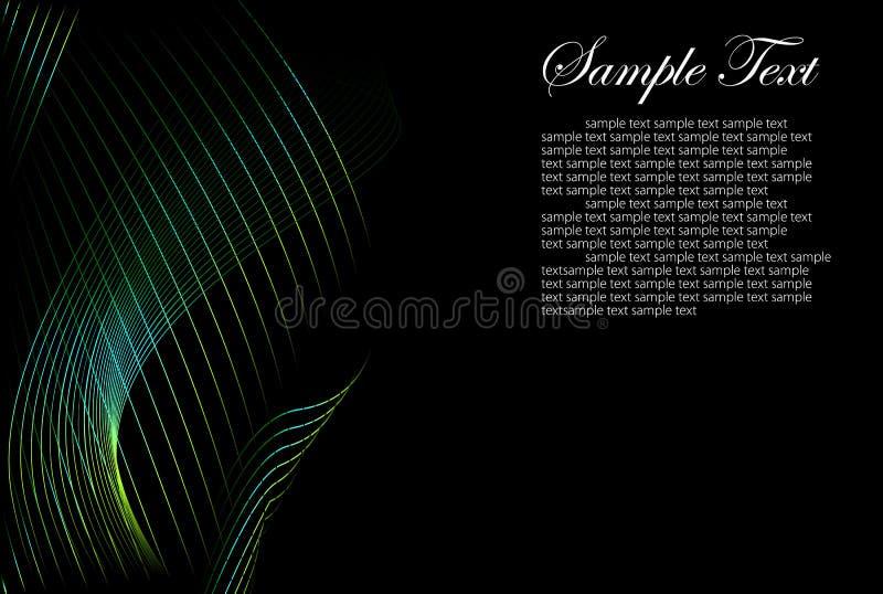 Fond abstrait de noir et de couleur illustration de vecteur