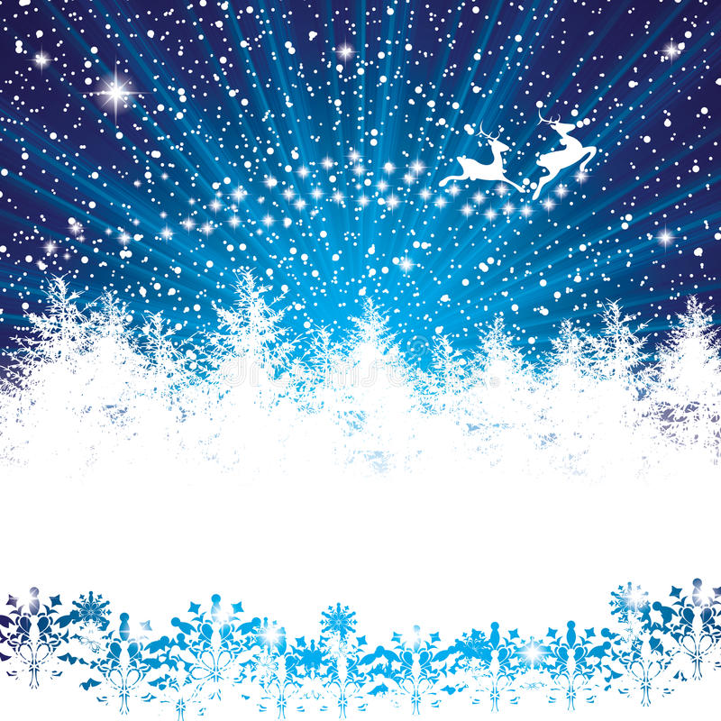 Fond abstrait de nuit d'hiver illustration de vecteur