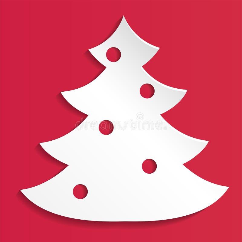 Fond abstrait de papier créatif d'arbre de Noël, illustration du vecteur eps10 illustration stock