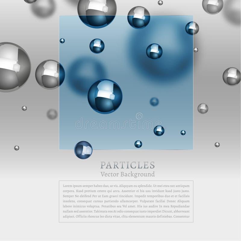 Fond abstrait de particules illustration stock