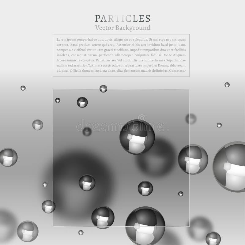 Fond abstrait de particules illustration de vecteur