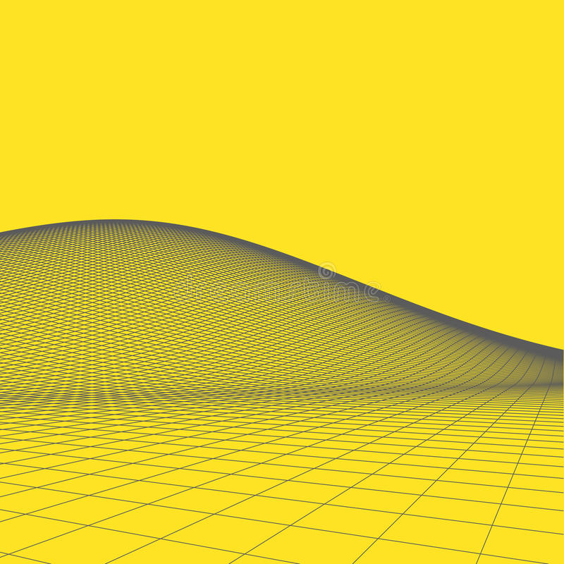 Download Fond Abstrait De Paysage De Vecteur Grille De Cyberespace Illustration De La Technologie 3d Illustration de Vecteur - Illustration du dessin, illustration: 77150597
