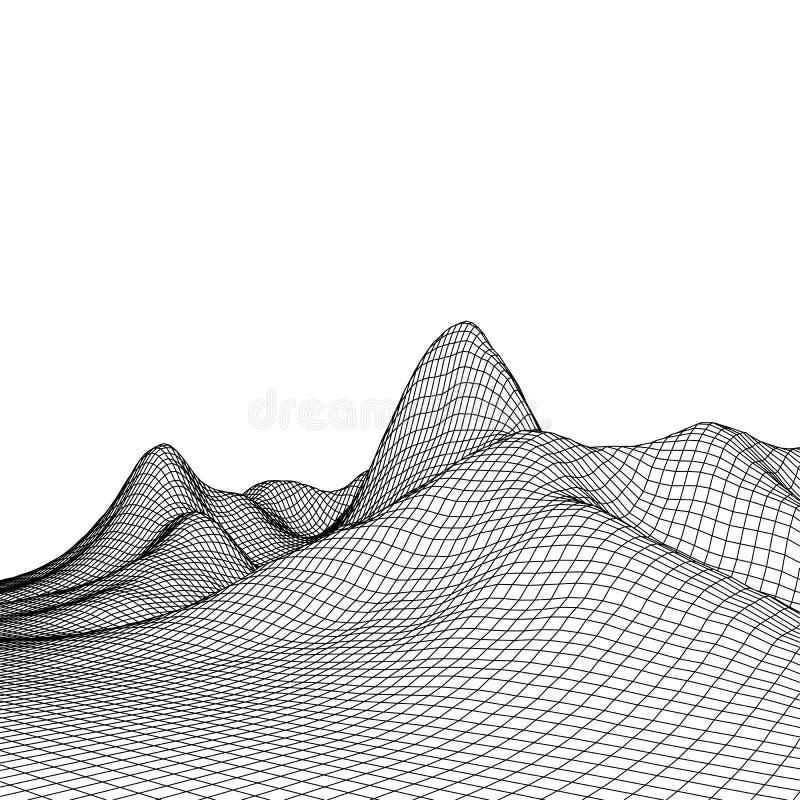 Download Fond Abstrait De Paysage De Vecteur Grille De Cyberespace Illustration De La Technologie 3d Illustration de Vecteur - Illustration du côte, réseau: 77151343