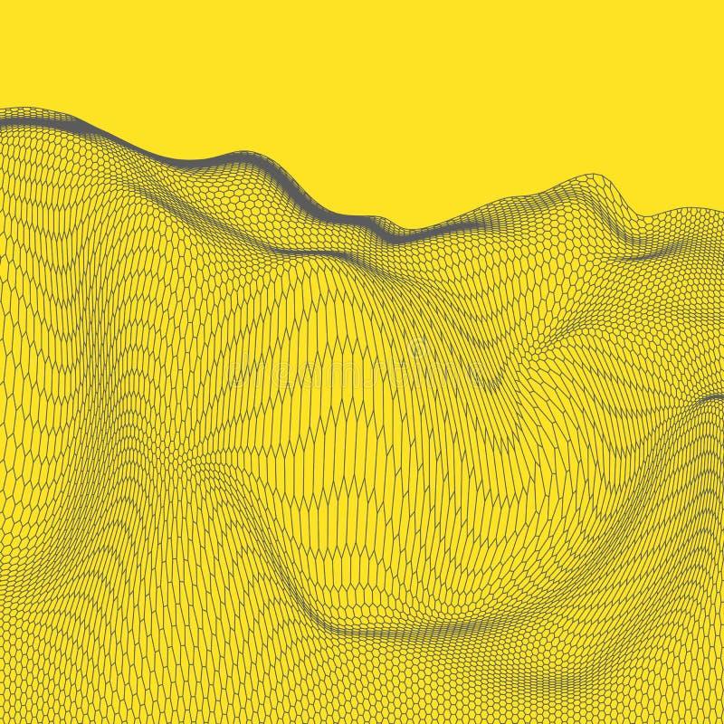 Download Fond Abstrait De Paysage De Vecteur Grille De Cyberespace Illustration De La Technologie 3d Illustration de Vecteur - Illustration du horizontal, forme: 77152138