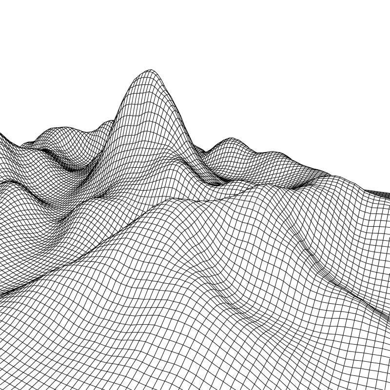 Download Fond Abstrait De Paysage De Vecteur Grille De Cyberespace Illustration De La Technologie 3d Illustration de Vecteur - Illustration du grille, contexte: 77152306