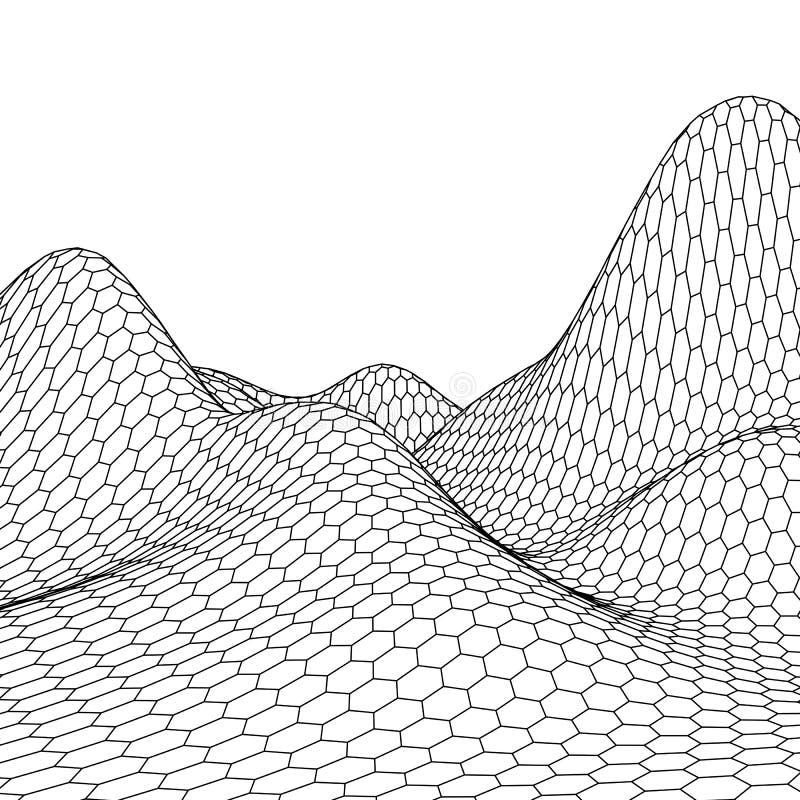 Download Fond Abstrait De Paysage De Vecteur Grille De Cyberespace Illustration De La Technologie 3d Illustration de Vecteur - Illustration du forme, décoration: 77152351