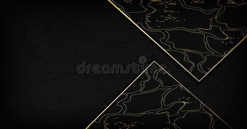 Fond abstrait de peau de serpent d'or scintillement, formes chics de style hors des triangles fond de peau réaliste pour des mari illustration stock