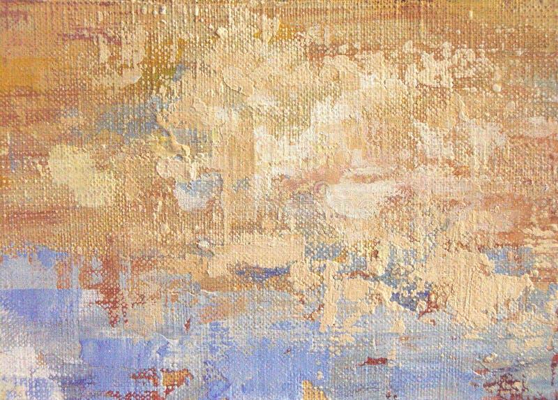 Fond abstrait de peinture à l'huile d'acrylique et illustration de vecteur