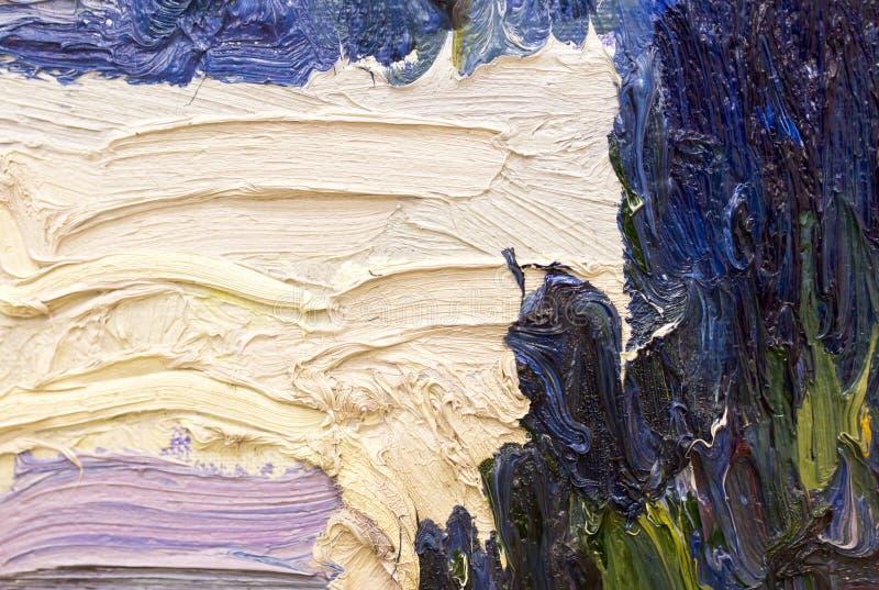 Fond abstrait de peinture à l'huile sur la toile photo libre de droits