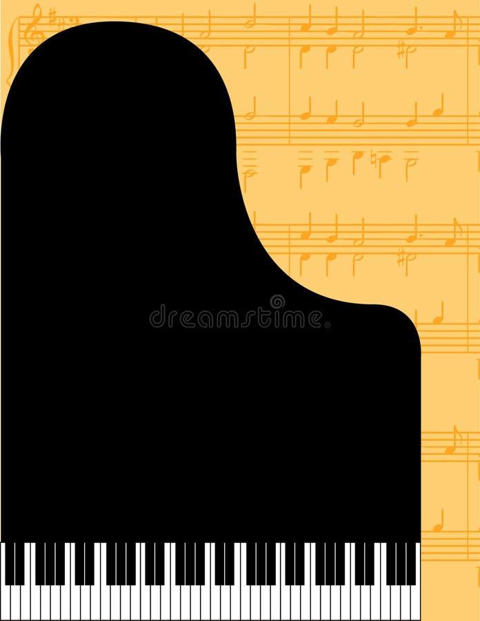 Fond abstrait de piano illustration de vecteur