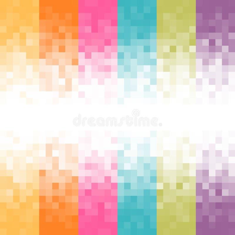 Fond abstrait de Pixel illustration stock