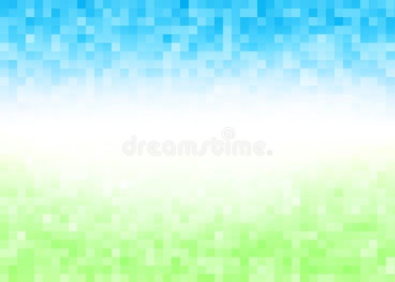 Fond abstrait de pixel de gradient illustration libre de droits