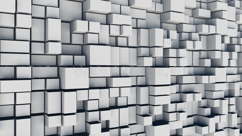Fond abstrait de places blanches illustration libre de droits