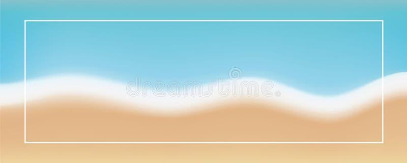 Fond abstrait de plage dans de rétros couleurs douces illustration stock