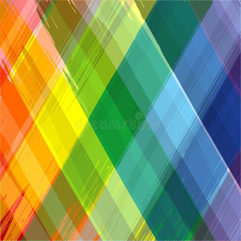 Fond abstrait de plaid de dessin de couleur d'arc-en-ciel illustration de vecteur