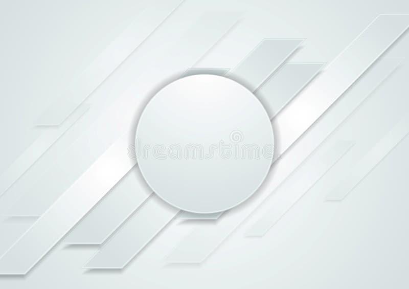 Fond abstrait de pointe gris avec le cercle illustration stock