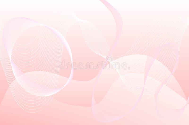 Fond abstrait de pointe - rose et blanc illustration stock