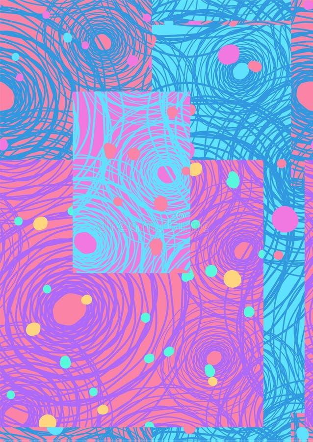 Fond abstrait de répétition sans couture des toiles et des points d'araignée abstraits illustration libre de droits