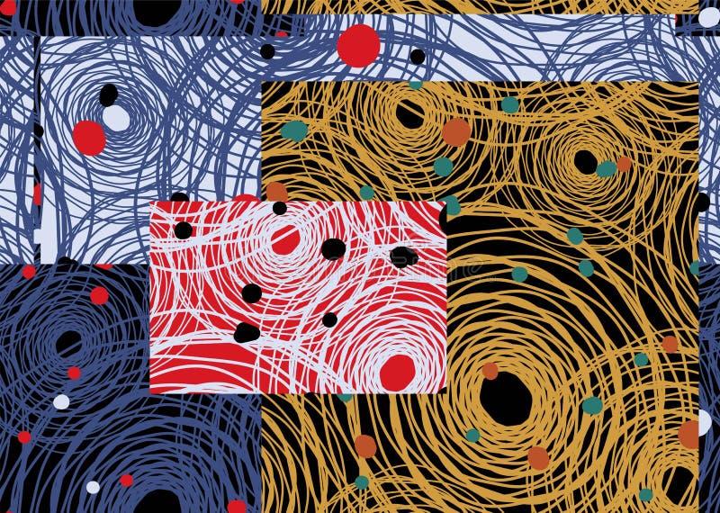 Fond abstrait de répétition sans couture des toiles et des points d'araignée abstraits illustration stock