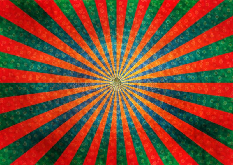 Fond abstrait de rétro rayons illustration stock