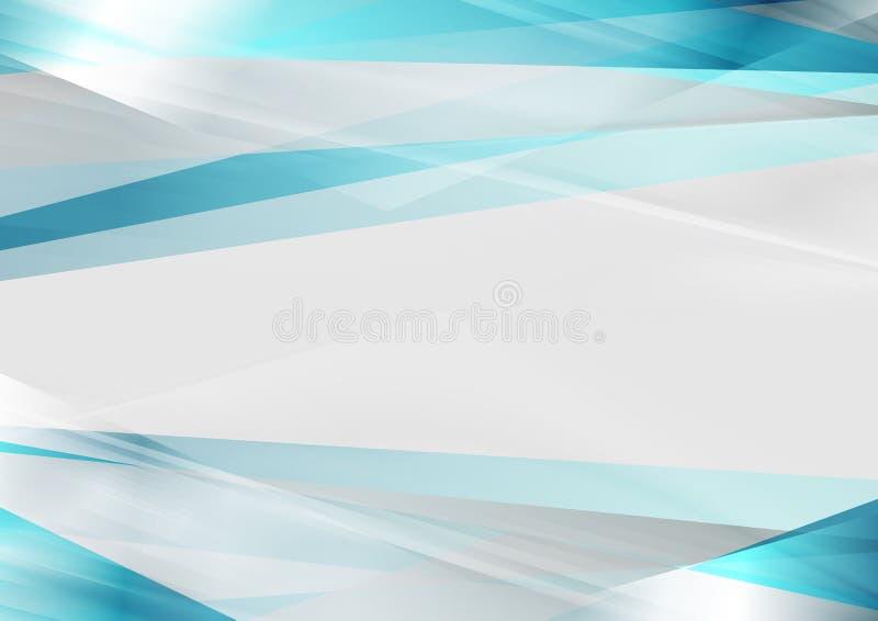 Fond abstrait de rayures brillantes bleues et grises illustration libre de droits