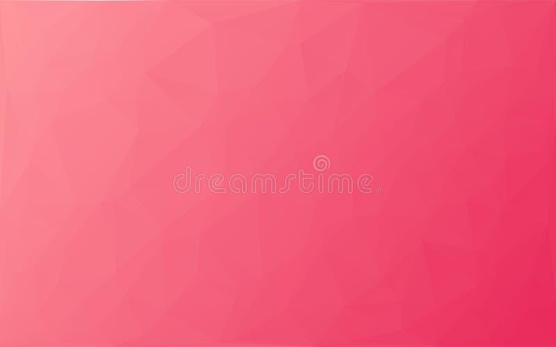 Fond abstrait de rose de vecteur de mosaïque de polygone illustration stock