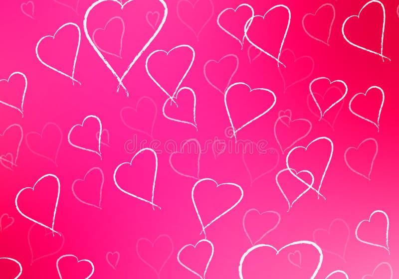 Fond abstrait de Saint-Valentin illustration libre de droits