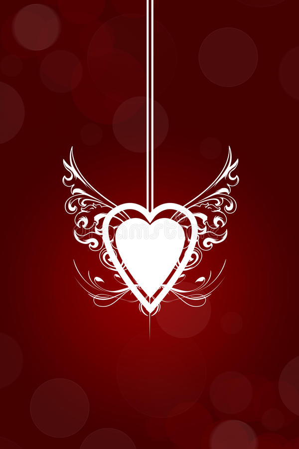 Fond abstrait de Saint-Valentin illustration stock