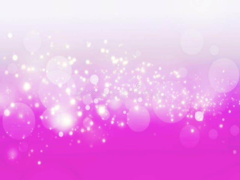 Fond abstrait de scintillement d'étincelle de bokeh defocused rose de lumières images libres de droits