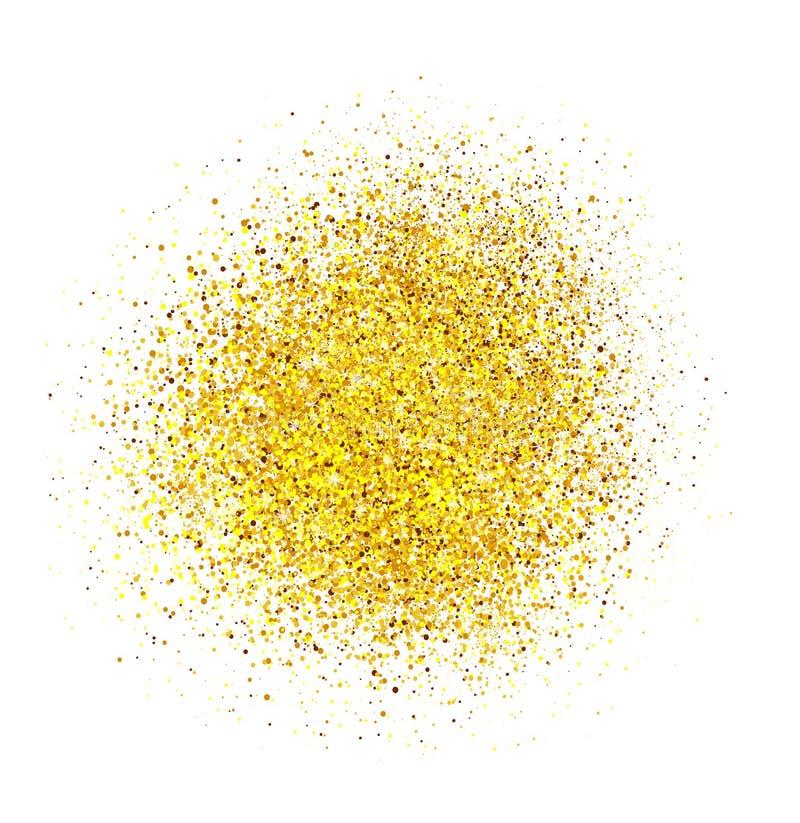 Fond abstrait de scintillement d'or Étincelles brillantes pour la carte images stock